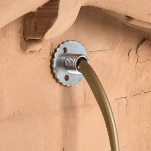 Krippe aus Terrakotta: Beleuchtete Hütte für Krippe Terrakotta Deruta