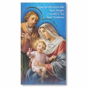 Accessori per Benedizione: Benedizione delle Famiglie Cartoncino Sacra Famiglia ITA