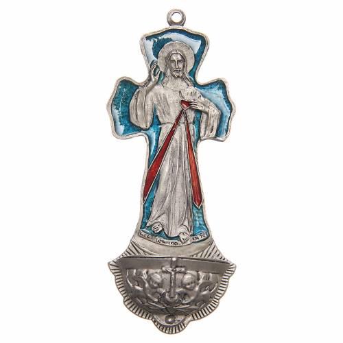 Bénitier Croix Christ Miséricordieux s1