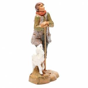 Berger avec mouton pour crèche 19 cm Fontanini s4