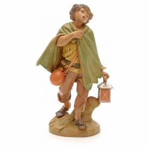 Santons crèche: Berger avec sa lanterne crèche Fontanini 12 cm