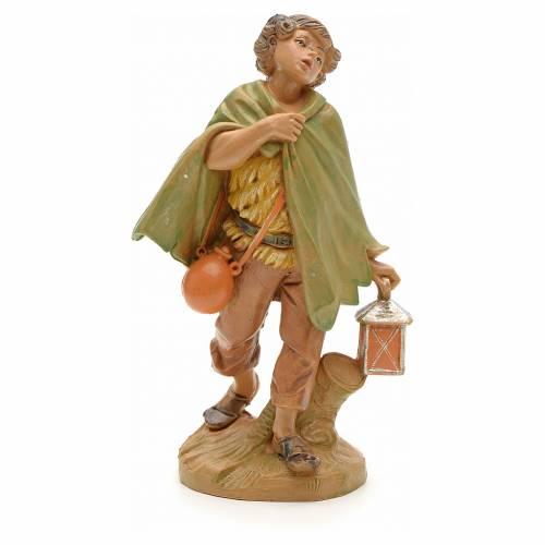 Berger avec sa lanterne crèche Fontanini 12 cm s1