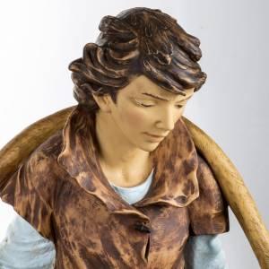 Berger avec seaux crèche Fontanini 125 cm résine s2