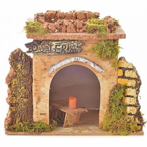 Bistrot en miniature crèche de noël 15x10 cm. D&eacu s1