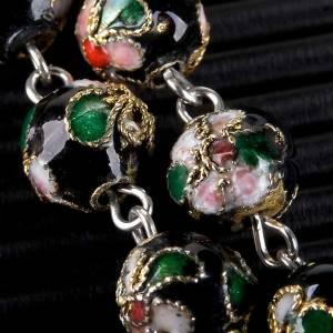 Black cloisonné rosary s5