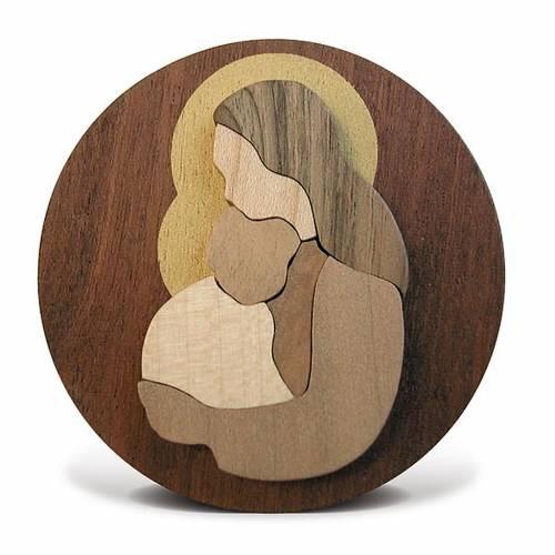 Bombonera redonda Virgen con el niño s3