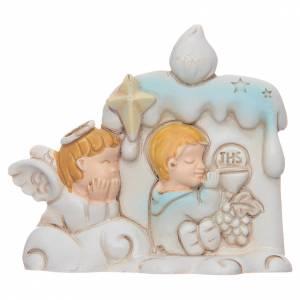 Bomboniere e ricordini: Bomboniera Prima Comunione candela angelo per bambino