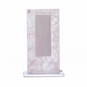 Bonbonnière Christ verre argent rose-lilas h 11,5 cm s3
