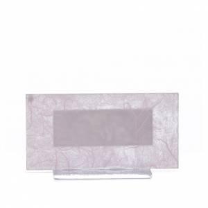 Bonbonnière Naissance verre rose-lilas h 11,5 cm s3