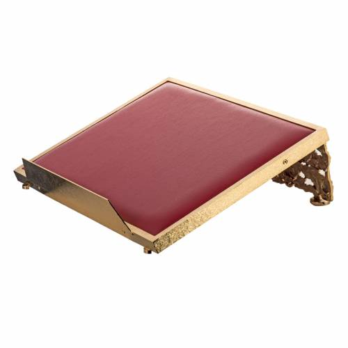 Book stand made of gold-plated cast brass s4