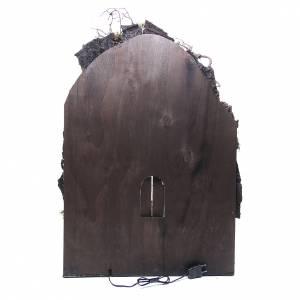 Borghetto presepe Napoli 75x50x50 cm illuminato s4