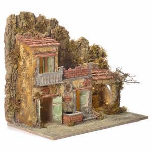 Presepe Napoletano: Borgo presepe con fontana 45X50X30 cm