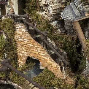 Borgo presepe con fontana, ruscello, staccionata s6