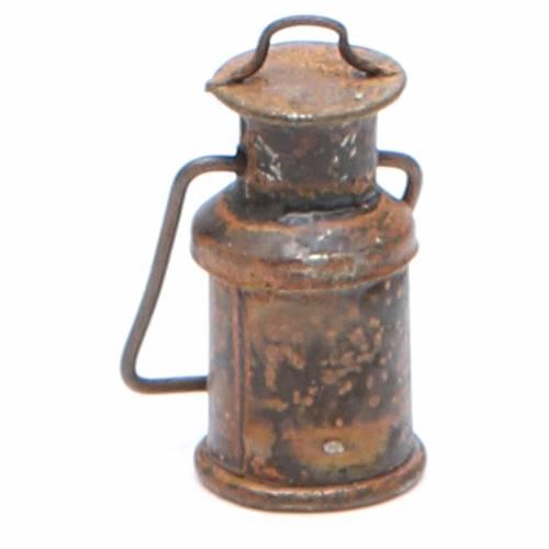 Bottiglia metallo con coperchio anticata presepe s2