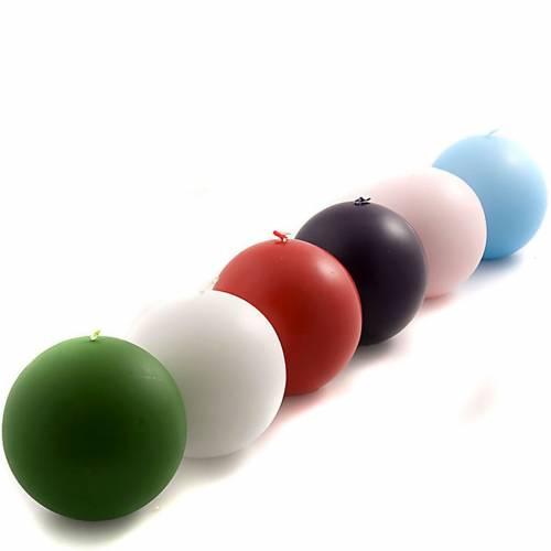 Bougie ronde opaque diamètre 10 cm s1
