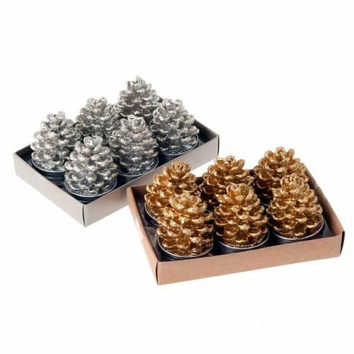 Bougies de Noël pomme de pin s1
