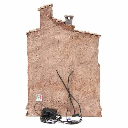 Bourgade avec cabane crèche avec accessoires 40x30x20 cm s4