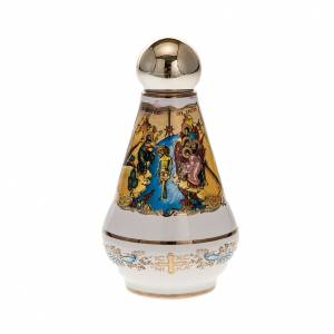 accessoires pour bénédictions: Bouteille eau bénite céramique Christ