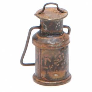 Bouteille métal avec couvercle vieilli crèche s2