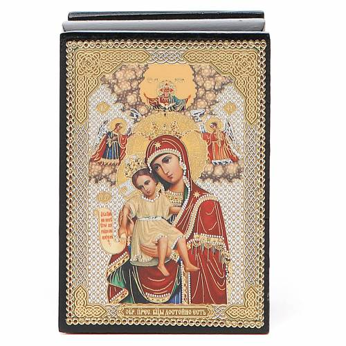 Box enamel Russia Our Lady of Perpetual Help s1