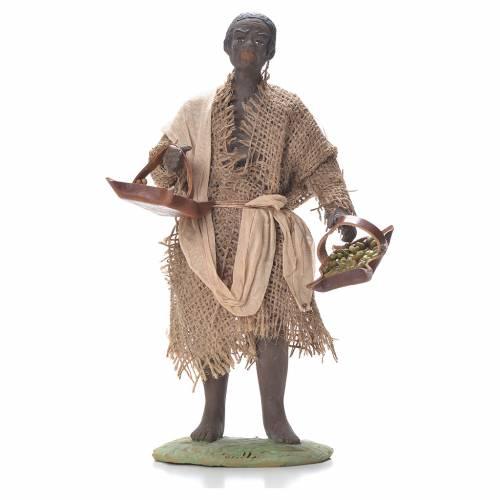 Boy with leather basket, Neapolitan Nativity 24cm s1