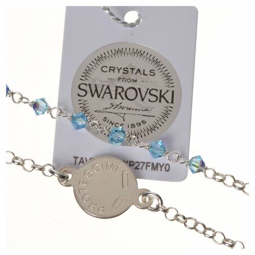 Bracciale argento 800 Swarovski azzurri angelo custode s3