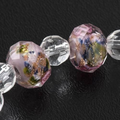 Bracciale elastico cristallo 7mm rosa s5