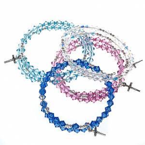Bracciale rosario Swarovski e argento 925 s1