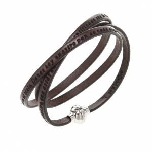 Bracelet Amen Notre Père marron ESP s1