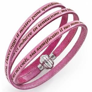 Bracelet Amen Notre Père rose thé Italien s1
