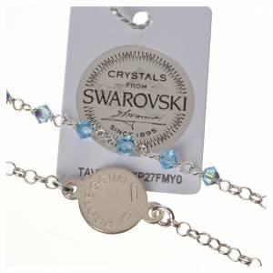 Bracelet argent 800 Swarovski bleus Ange Gardien s3