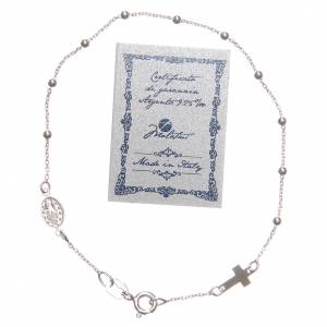 Bracelet dizainier argent 925 croix médaille s2