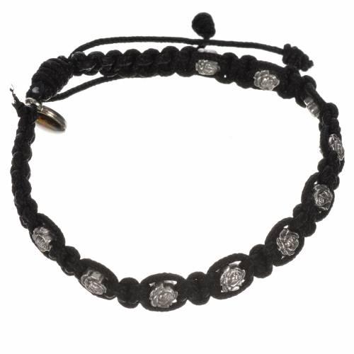 Bracelet dizainier sur corde et petites roses s5