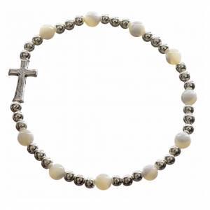 Bracelet élastique pierres dures et croix s4