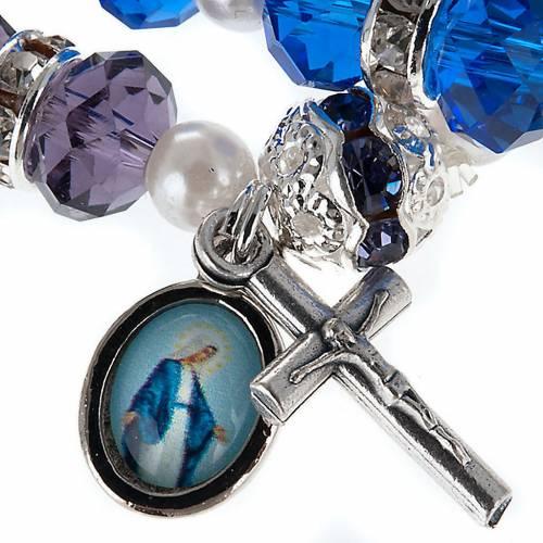 Bracelet grains cristal et paillettes s2