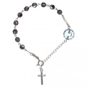 Silver bracelets: Bracelet in 925 sterling silver black with circle Pater