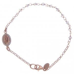 Silver bracelets: Bracelet in 925 sterling silver rosè with transparent Swarovski