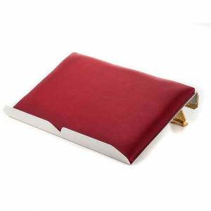 Book stands: Brass book stand with cushion and cross
