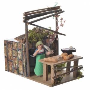 Bread seller, 7cm animated nativity s2