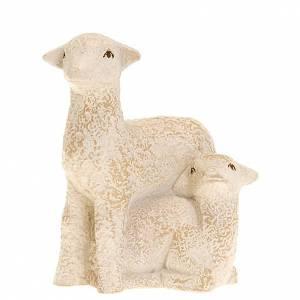 Brebis et agneau pour la crèche Paysanne s1