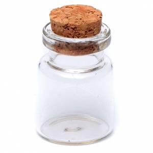 Barattolo cristallo h reale 2,5-3,5 cm per presepe s3