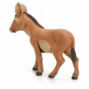 Brown Donkey 8cm neapolitan nativity scene s3