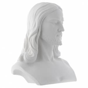 Buste du Christ 33 cm poudre de marbre s2