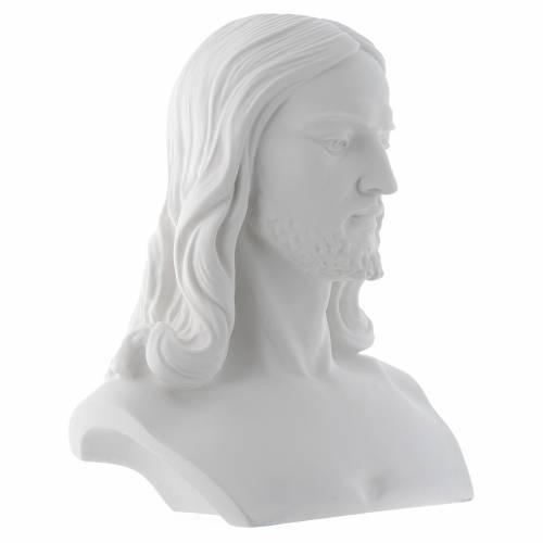 Busto de Cristo cm 33 polvo de mármol s2