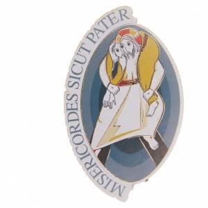 Magneti dei Santi, Madonna, Papa: STOCK Calamita ovale logo Giubileo Misericordia 8x5,5 cm