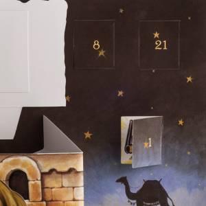 Calendario dell'Avvento presepe Pop Up Tridimensionale s6