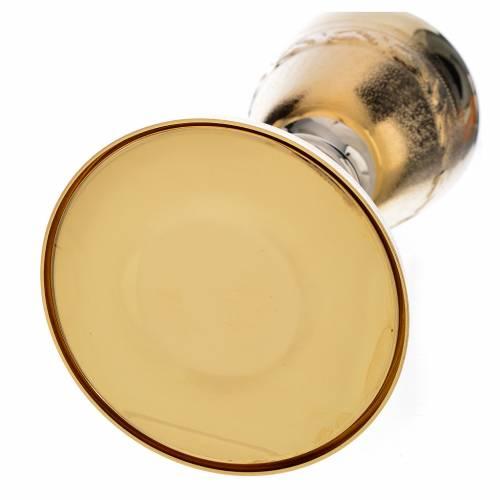Calice ciboire décor avec épis laiton s6