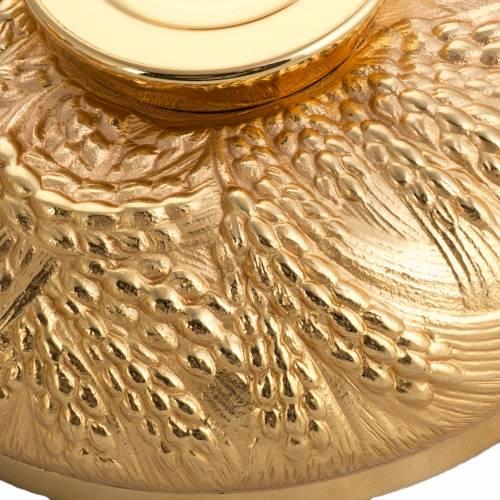 Calice ciboire patène épis laiton et bronze moulé s9