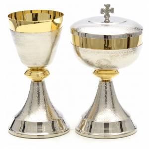 Calici Pissidi Patene metallo: Calice e pisside doppia finitura bicolore