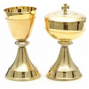 Calici Pissidi Patene metallo: Calice e pisside doppia finitura oro